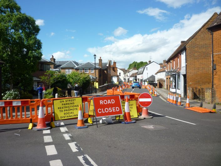 June 2020 saw changes to Welwyn High Street to aid social distancing