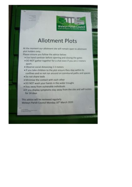 Welwyn allotments