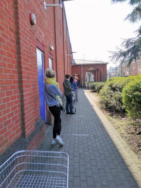 Queuing at Tesco Hertford, March 2020 | Sheila White