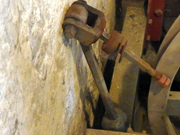 One of the clappers removed from the bells at St Peter's, Tewin