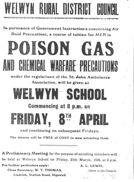 Preperations for War 1938 | Hertfordshire Archives and Local Studies