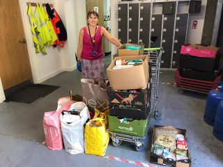 Weekly donations to the foodbank