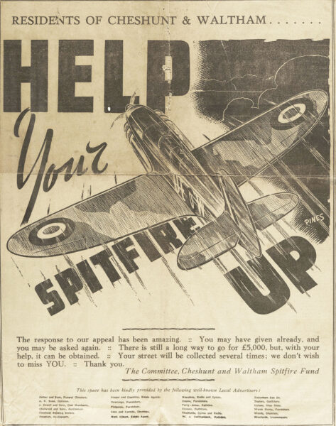Newspaper article promoting the Spitfire Fund | Weekly Telegraph, 30 August 1940 (ref HALS Acc 3030)