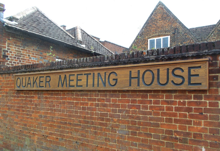 Outside Hertford Quaker Meeting House | N Connell (HALS ref DEX1024/1/66/3/21)