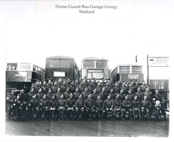 Home Guard Bus Garage Group, Watford | Hertfordshire Archives and Local Studies