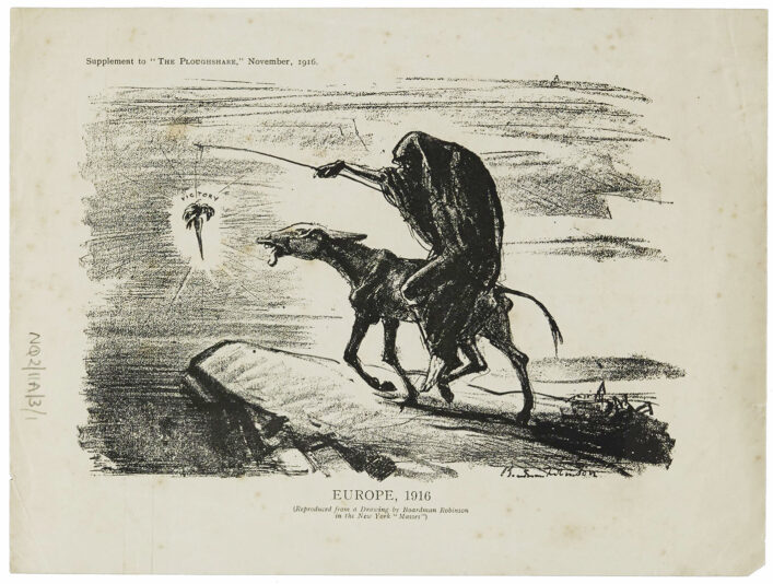 Drawing of death leading the donkey over a cliff | HALS (ref NQ2/11A/3/1)