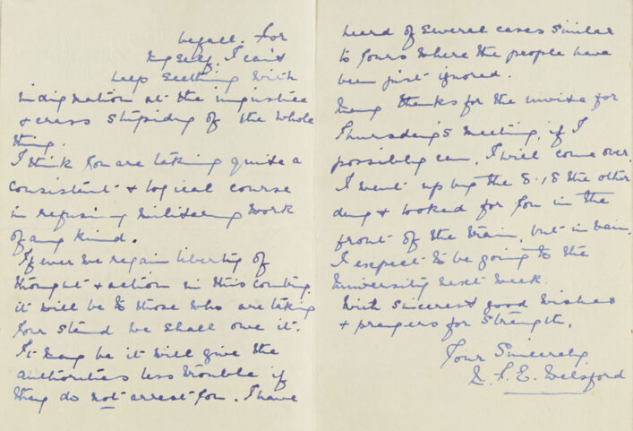Letter of support for Basil Burton, a conscientious objector | HALS (ref NQ2/11A/21)