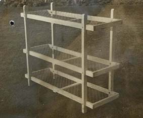 Photograph of bunk beds for a shelter | HALS (ref RDC14/87/1)