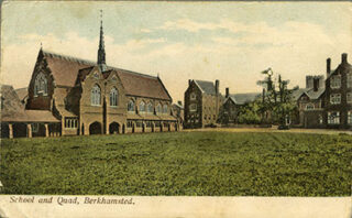 Berkhamsted School and quad, 1904 | Hertfordshire Archives and Local Studies (Local Studies Library Collection)