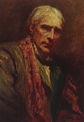 Self portrait of Herkomer.  Reproduced with kind permission from Bushey Museum and Art Gallery. | Hertfordshire Archives and Local Studies (Local Studies Library Collection)