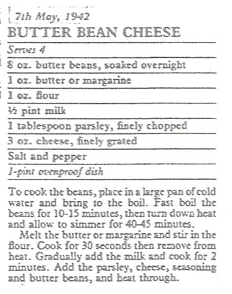 Butter Bean Cheese | Hertfordshire Archives and Local Studies