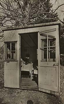 Shaw's writing hut   Hertfordshire Archives and Local Studies (Local Studies Library Collection)