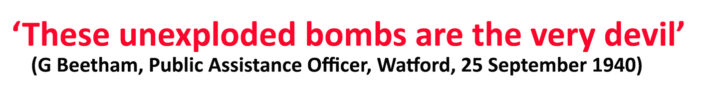 Unexploded bombs & the homeless