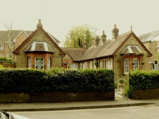 The Beresford almshouses in Bury Lane. April 2017   Colin Wilson