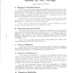 Notes for Assistance of Persons affected by War Damage | Hertfordshire Archives and Local Studies