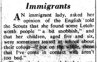 Newspaper article on immigrants | Herts and Beds Citizen, 13 Dec 1968