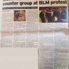 Newspaper article on BLM | Hertfordshire Mercury, 18 June 2020