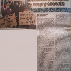 Newspaper article on BLM | Hertfordshire Mercury, 11 June 2020