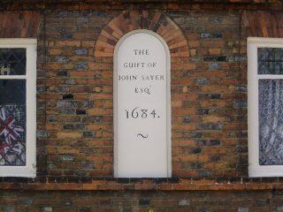 The datestone on John Sayer's almshouse. 2016 | Colin Wilson