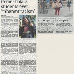 Newspaper article on BLM | Bishop's Stortford Independent, 17-23 June 2020