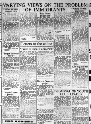 Newspaper reports on immigration | Letchworth and Baldock Citizen, 7 July 1965