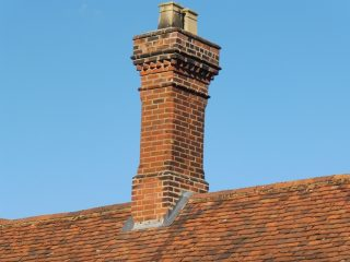 Much Hadham almshouse. Decorated chimney. Aug 2016 | Colin Wilson