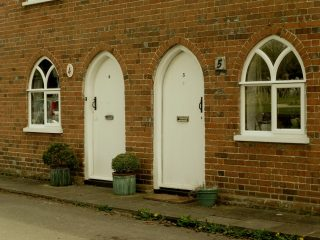 The simple but interesting design of the doors and windows. Dec 2017 | Colin Wilson