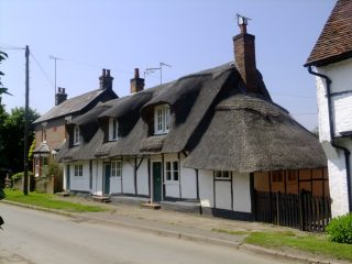 The almshouses from the north, showing the lean-to. Jun 2016 | Colin Wilson
