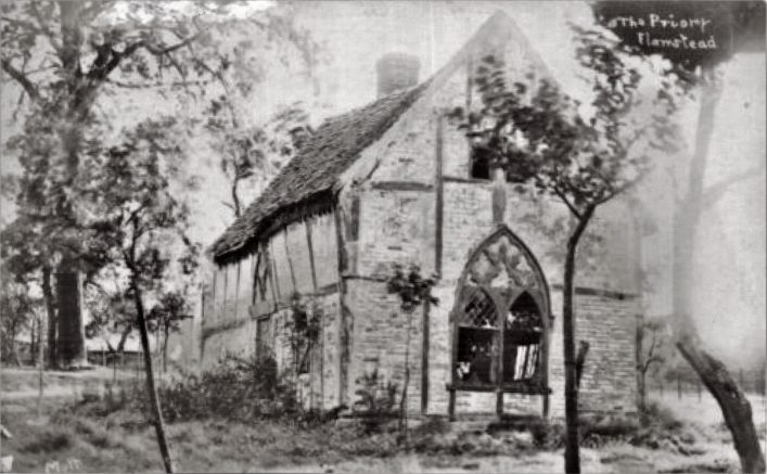 Old Priory, Flamstead 1904, b&w photograph | E Mott, Markyate