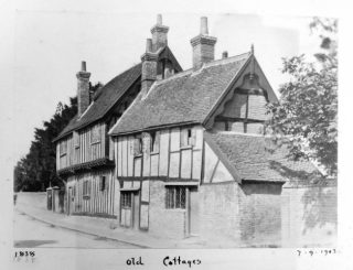 A. Whitford Anderson's photo of Northchurch almshouses. 1903 | Courtesy of Hertfordshire Archives and Local Studies ref DE/X1042/3/33b