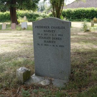 Tombstone of Frederick Harvey in God's Acre