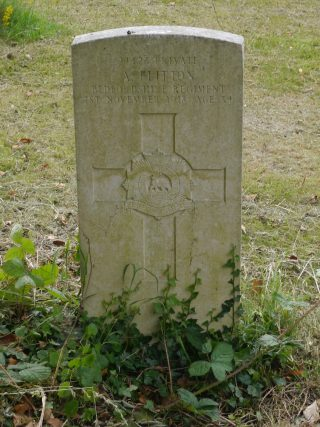 Tombstone for a Commonwealth War Grave in God's Acre