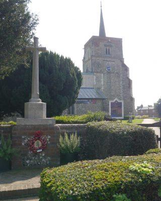 The War Memorial outside St Leonard's, Flamstead