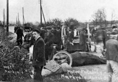Early road accidents involving the first motor cars
