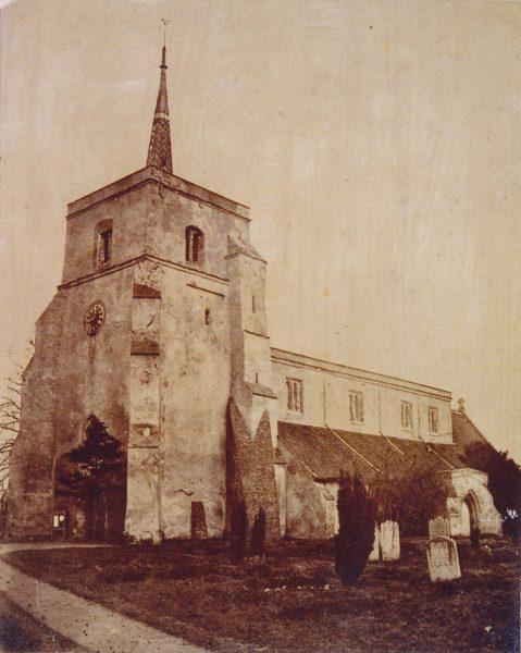 St Leonard's church, south face, sepia print 1880 | A Burley collection