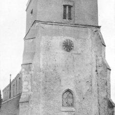 St Leonard's church tower, b&w photo from west, after repairs1905 | Rev. Bullard