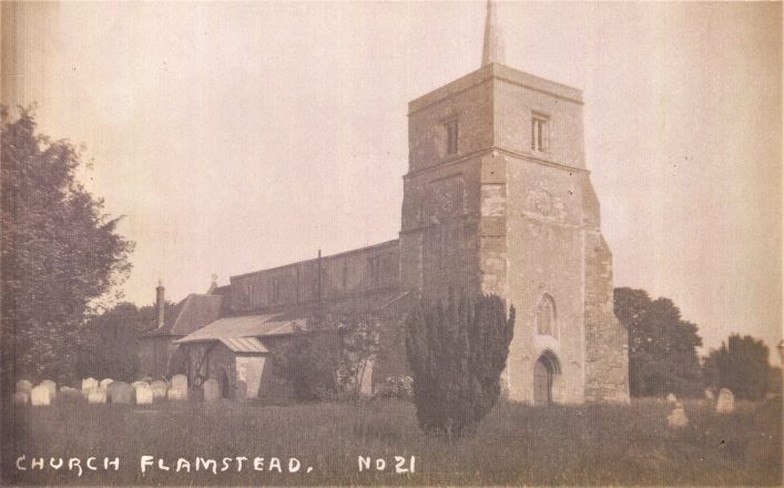 St Leonard's church tower, from north west, sepia photo 1900s | Mary Mealey Collection