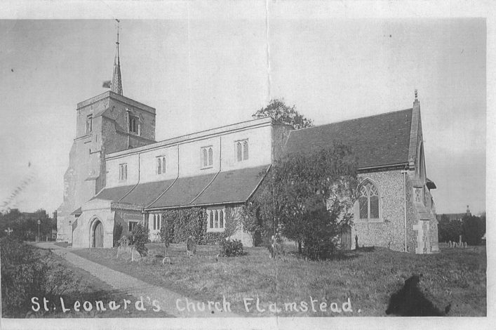 St Leonard's church, south side, b&w print 1930s | Mary Mealey collection