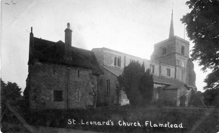 St Leonard's church, north face 1920s, b&w photo | C Motley postcard collection