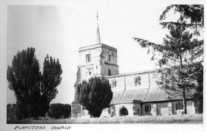 St Leonard's church, south side, b&w print 1920s | C Motley postcard collection