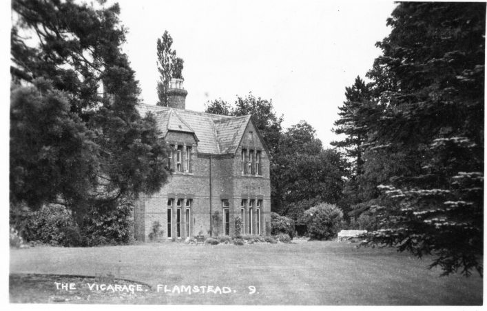 The old vicarage in the 1920s b&w photo | C Motley postcard collection