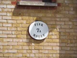 The nameplate for Fisk House. Jun 2021 | Colin Wilson