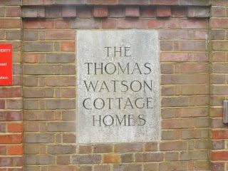 The name stone for Thomas Watson Cottage Homes. Jan 2017   Colin Wilson