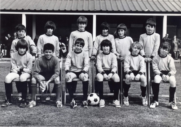 Ware Lions FC on tour (Canvey Island, Essex), 1972