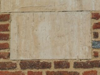 The datestone, Saunders almshouse, Oct 2016 | Colin Wilson