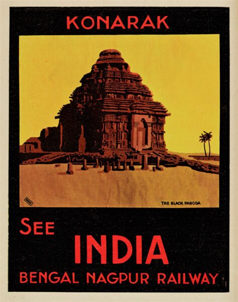 Poster promoting Bengal Nagpur railway | HALS Ref 86736
