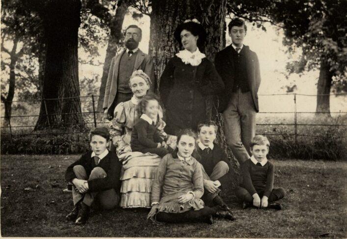 The Martin Leake family in a garden c 1880 doc ref 87578
