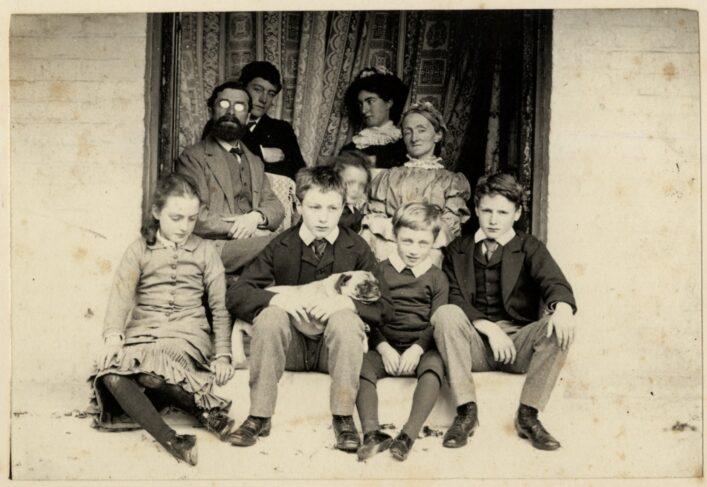 The Martin Leake family in a window, c. 1880 doc ref 87579