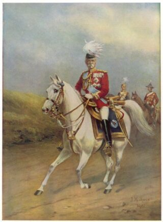 Lord Roberts (previously General)in full regalia on his white horse.