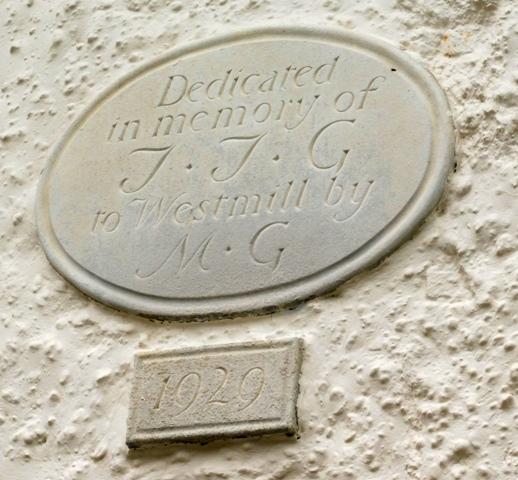 The dedication plaques on Pilgrims Close almshouses. Mar 2017 | Colin Wilson